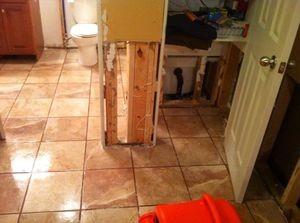 911 Restoration of Chicago | Bathroom Flood Restoration Work