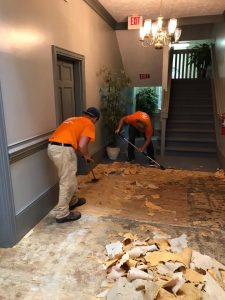 Technicians Cleaning Up Flood Damage